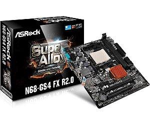 PLACA MAE AM3 MICRO ATX N68-GS4 FX R2.0 DDR3 ASROCK BOX