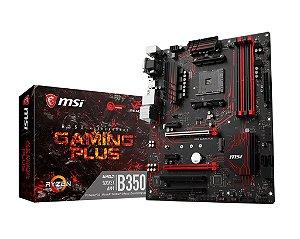PLACA MAE AM4 ATX B350 GAMING PLUS DDR4 MSI BOX