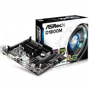 PLACA MAE COM PROC MICRO ATX D1800M DDR3 INTEL DUAL-CORE J1800 ASROCK OEM IMPORTADO