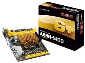 PLACA MAE COM PROC MINI-ITX A68N-5100 DDR3 VGA/HDMI BIOSTAR BOX