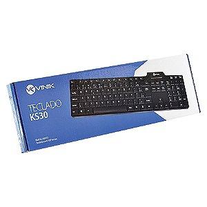 TECLADO PS2 KS30 107 TECLAS PRETO VINIK BOX