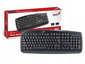 TECLADO USB 313000700141 KB-110 106 TECLAS PRETO GENIUS BOX