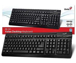 TECLADO USB KB-125 ABNT2 31300723110 PRETO GENIUS BOX