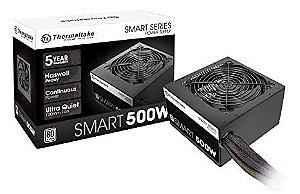 FONTE ATX 500W SMART PS-SPD-0500NPCWUS-W PFC ATVO 80 PLUS WHITE THERMALTAKE BOX