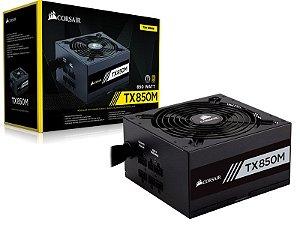 FONTE ATX 850W TX850M CP-9020130-WW SEMI-MODULAR 80 PLUS GOLD CORSAIR BOX