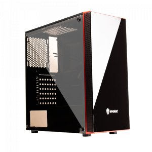GABINETE GAMER EG-803 RAY PLUS S/ FONTE COM ACRILICO EVOLUT BOX