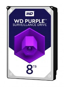 HD 8000GB SATA3 WD82PURZ 7200RPM PURPLE SURVEILLANCE WESTERN DIGITAL BOX