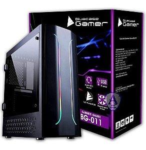 GABINETE GAMER BG-011 S/ FONTE C/ LED RGB BLUECASE BOX