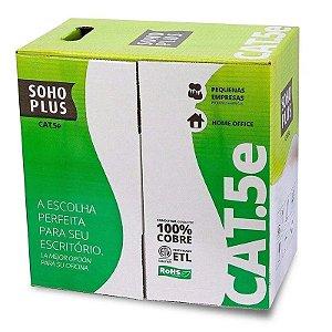 CAIXA DE CABO DE REDE 305 METROS CAT5E 24AWGX4P PRETO FURUKAWA BOX