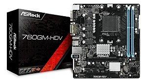 PLACA MAE AM3 MICRO ATX 760GM-HDV DDR3 VGA/DVI-D/HDMI ASROCK BOX