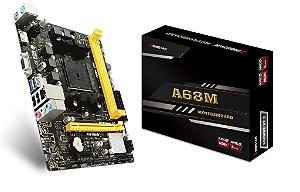 PLACA MAE FM2 MICRO ATX A68MHE DDR3 VGA/HDMI USB 3.0 BIOSTAR BOX