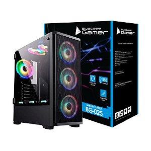 GABINETE GAMER BG-025 LATERAL EM VIDRO TEMPERADO BLUECASE BOX
