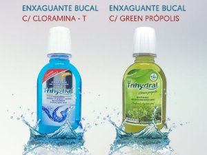 Kit - 2 x Enxaguante 250ml: Cloramina-T + 2 x Enxaguante 250ml: Green Própolis