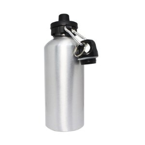 Squeeze de Alumínio para Sublimação Prata com Tampa Dupla - 600ml