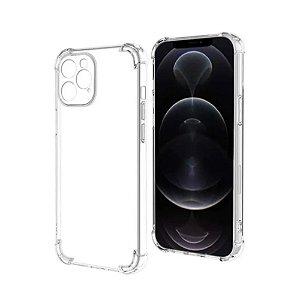 Capa Silicone para iPhone 12 c/ Proteção de Câmera - Incolor