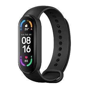 Relógio Xiaomi Mi Band 6 SmartWatch para Android iOS - Preto