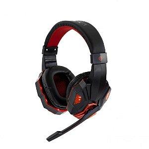 Fone de Ouvido Headset Sate Gamer com Microfone e LED