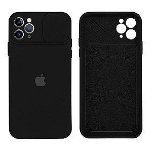 Capa C/ Proteção na Câmera para iPhone 11 Pro - Preta