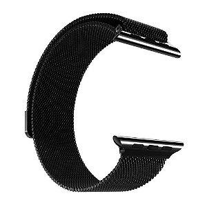 Pulseira Magnética Milanese para Apple Watch 38/40mm - Preta