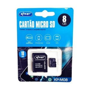 Cartão De Memória 8GB Knup Classe 10