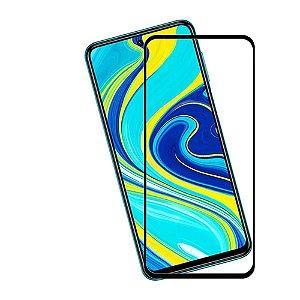 Película de Vidro 3D 5D e 6D para Xiaomi Redmi Note 9 Preta