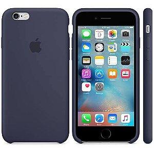 Capa Case Apple Silicone para iPhone 6G 6S - Azul Marinho