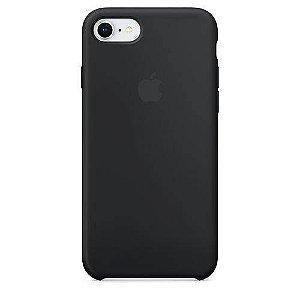 Capa Case Apple Silicone para iPhone 7 8 - Preta