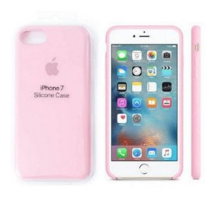 Capa Case Apple Silicone para iPhone 7 8 - Rosa