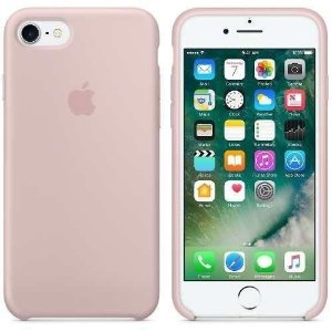 Capa Case Silicone Apple para iPhone 7 8 - Rosa Areia