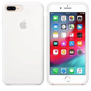 Capa Case Apple Silicone para iPhone 7 8 Plus - Branca
