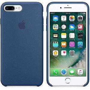 Case Apple de Silicone para iPhone 8 Plus/ 7Plus, Azul Marinho - MKY24BZ/A Apple