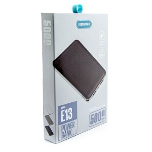 Power Bank 5000mAh SLIM 2 USB KIMASTER E13 Preto