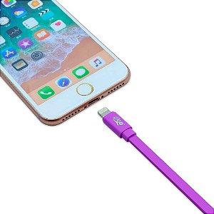 Cabo Lightning iPhone I2GO 1,2m 2,4A Flexível Roxo - Roxo