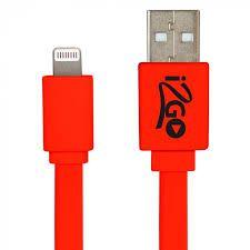 Cabo Lightning Homologado Usb I2GO Para iPhone 5/6/7/8/X Vermelho