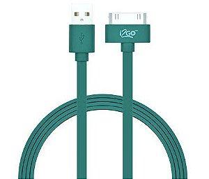 Cabo Homologado Usb I2GO Para iPhone 4G/ 4S/ iPad Verde