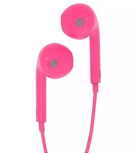 Fone De Ouvido Active para Smartphone Rosa Com Microfone
