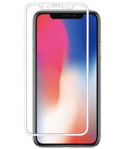 Película De Vidro Premium C/ Bordas 3D Para Apple Iphone Iphone XR BRANCA (6'1)