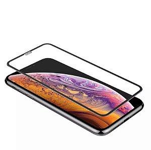 Película De Vidro Premium C/ Bordas 3D Para Apple Iphone Iphone XS MAX 6.5 Preta