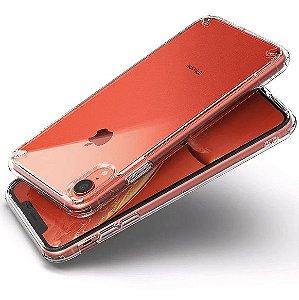 Capa Incolor Tpu Para Iphone XR Silicone Maleável Com Proteção Borda
