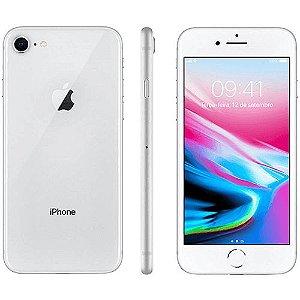"""iPhone 8 Apple com iOS 11, Câmera de 12 MP, Resistente à Água, Wi-Fi, 4G LTE e NFC, 64GB, Prata, Tela HD de 4,7"""""""