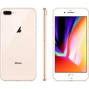 """iPhone 8 Apple Plus com iOS 11, Dupla Câmera Traseira, Resistente à Água, 64GB, Dourado, Tela HD de 5,5"""""""