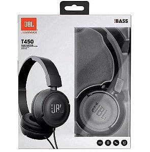 Fone De Ouvido JBL T450 On Ear Original - Preto
