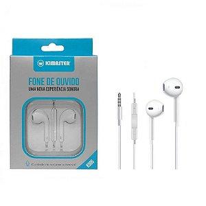 Fone Ouvido Apple Kimaster para iPhone 4s 5 5c 5s 6 6s Plus