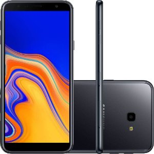 "Smartphone Samsung Galaxy J4 Plus 32GB Dual Chip Android 8.1 Tela infinita 6.0"" Quad-Core 1.4GHz 4G Câmera 13MP - Cobre"