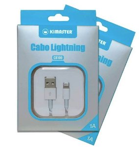 Cabo iPhone Lightning Premium Kimaster CB100 - Branco