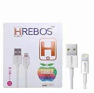 Cabo USB para Lightning 2.1A 2m Hrebos