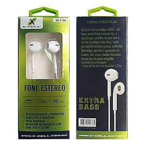 Fone de Ouvido com Microfone X-Cell XC-F-06 - Branco