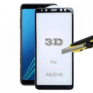 Película de Vidro 3D 5D e 6D Samsung Galaxy A8 2018 Preta