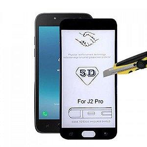 Película de Vidro 3D 5D e 6D para Samsung Galaxy J2 Core Preta