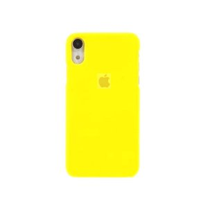 Capa Case Apple Silicone para iPhone XR 6.1 - Amarela
